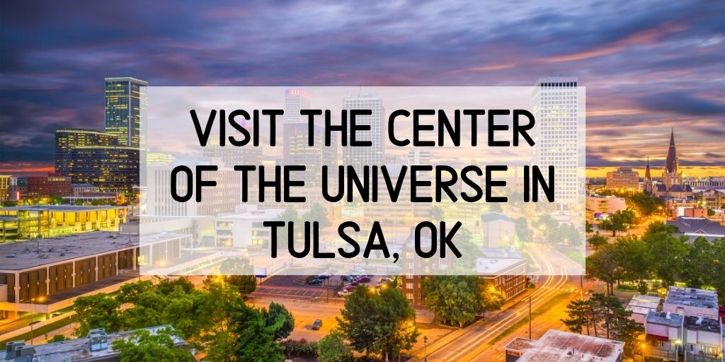 """Travel to the center of the universe, just by heading downtown!The """"Center of the Universe"""" is a little-known mysterious acoustic phenomenon in Tulsa, OK. Ifyoustand in the middleof the circle and make a noise, thesound is echoed back several times louder than it was made. It's your own private amplified echo chamber."""